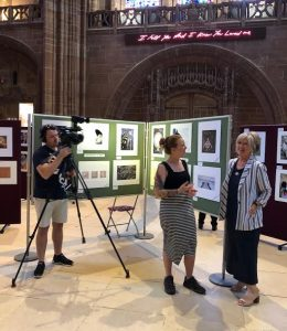 Filming the Exhibition for Liverpool TV Tues 30th July by Angelica Smith