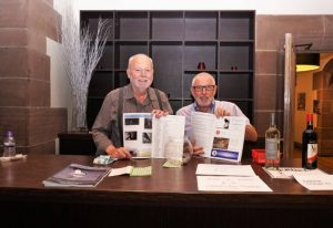 Alan and Bert, meeting, greeting and promoting the catalogue. by Pak