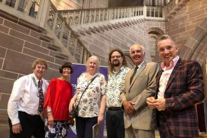 VIP's at SLPS Annual Exhibition Opening 2019 Paul M, Barbara. Jane, Adrian, Garth, Gary by Irene