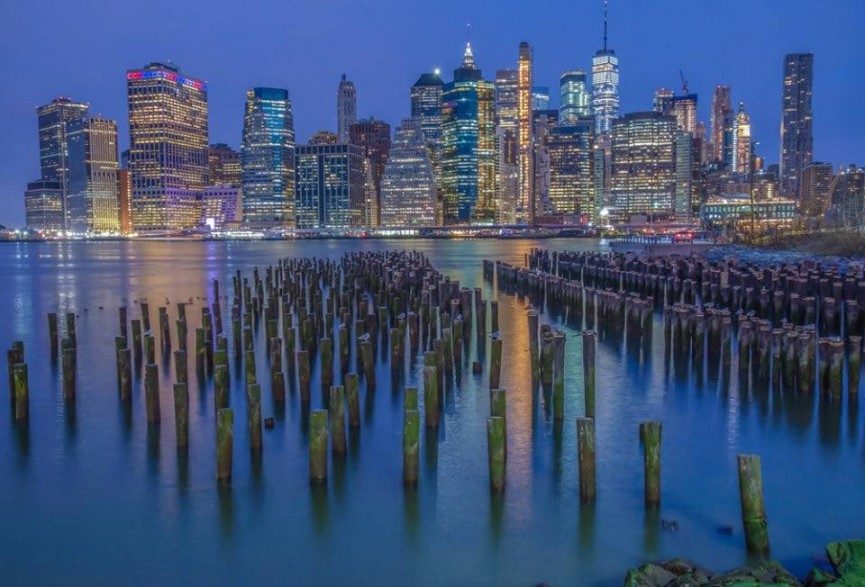 Finding the right spots to get the New York skyline into a great perspective