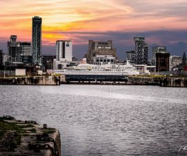 Liverpool Skyline from Birkenhead Docks