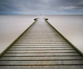 "First Place Colour Print and Best overall image.  ""Pier"" by Simon Rahilly LRPS"