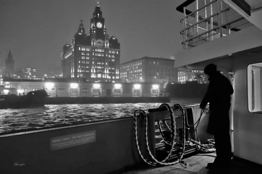 "!st Place - "" Liver Building From The Mersey Ferry"" by Pak Hung Chan"