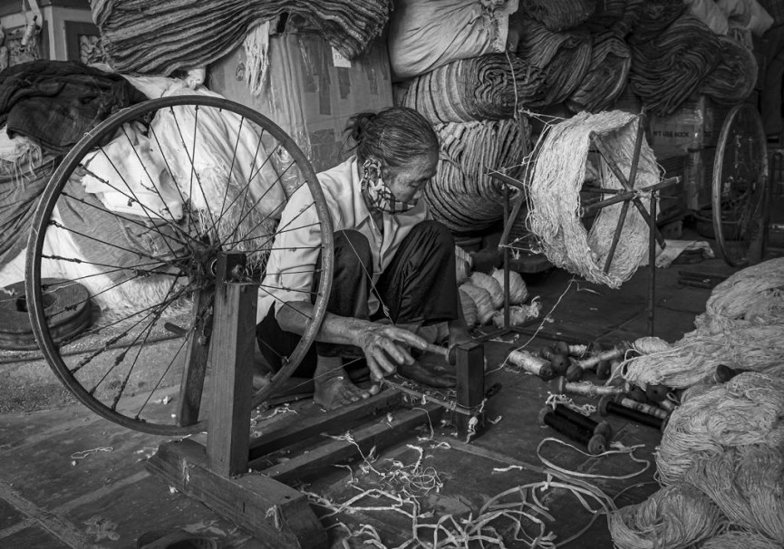 """Second Equal - """"Traditional Vietnamese Silk Weaver"""" by Ann Moore"""