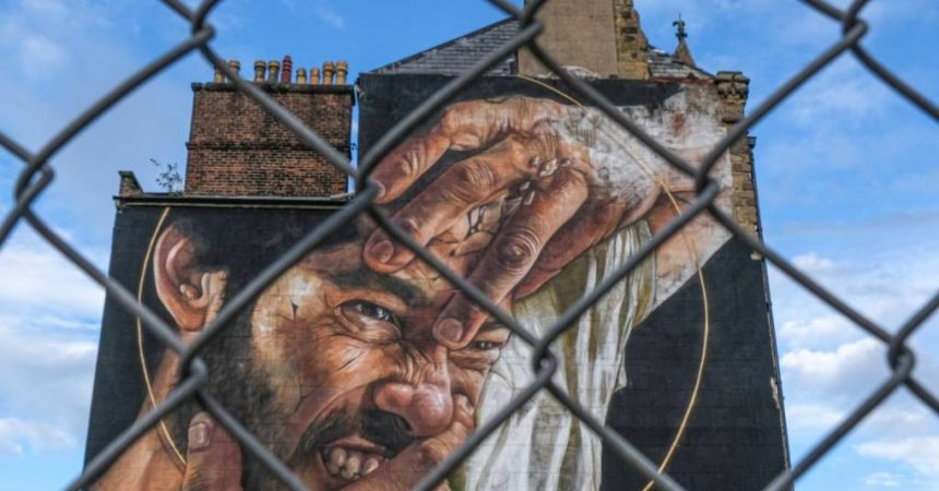 Street art of Liam Bunoni by Irene Drummond