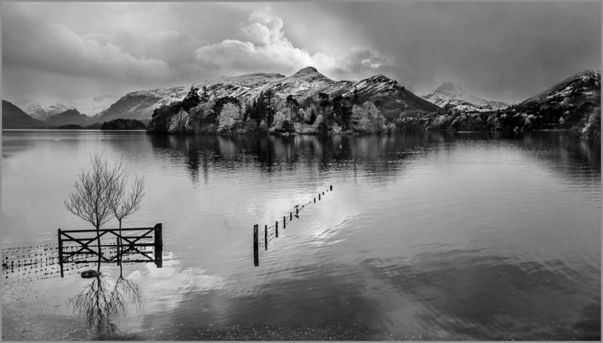 Derwentwater snowstorm by Christine Lowe - Highly Commended