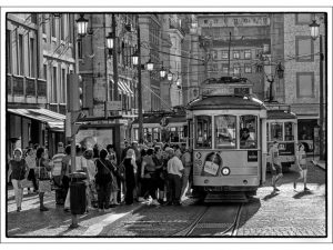 Commended - Tram Stop by Alan Shufflebotham