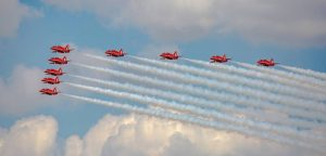 Very Highly Commended - Red Arrows Flypast by Martin Reece ARPS