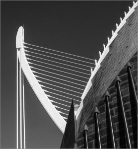 Archiectural detail City of Arts and Sciences Valencia by Barbara Green