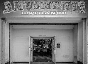 Derek Gould Amusement arcade c1955