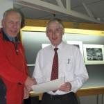 Martin Reece MBE ARPS (L) and Gordon Jenkins