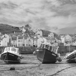 13 Staithes at Low Tide