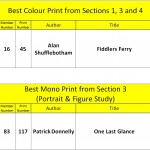 Best colour print from 1,3,4