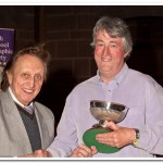 Mike Lawson, our resident Natural History wizz, receiving his trophy from Ken Dodd OBE