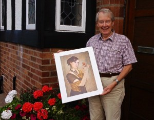Gary Parker, A Very Happy Raffle Prize Winner with an Adrian Lines print