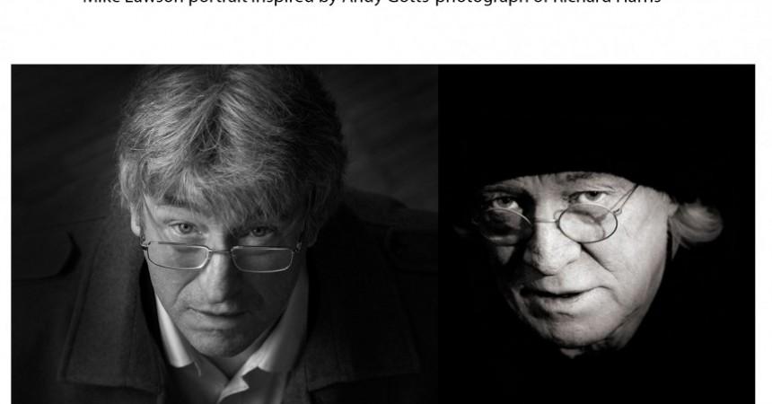 Mike Lawson portrait with Richard Harris