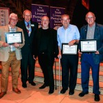 Tony Myers, Paddy Green and Mike McWade are awarded Life Membership of SLPS