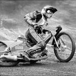 "1st Place Mono Print - ""Speedway Slider""  by Tony Myers"