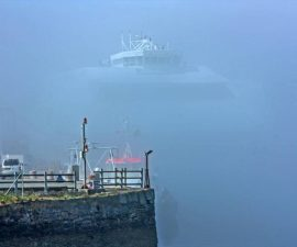 """""""Holyhead Port in the Fog"""" by Peter Tormey"""