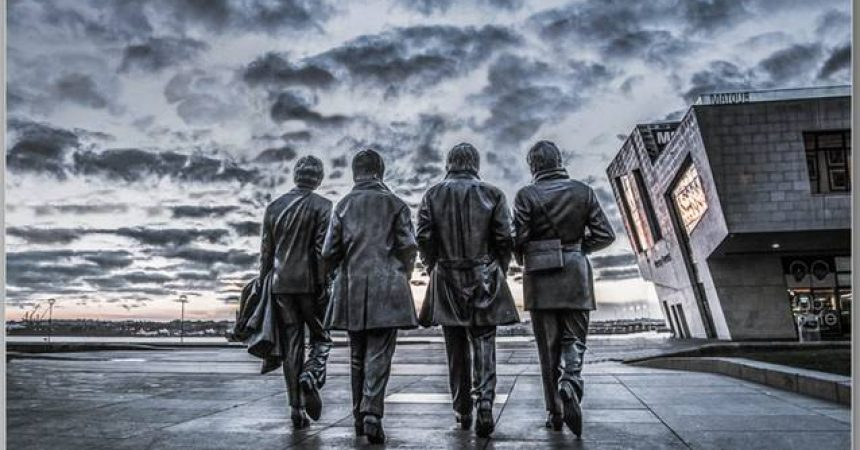 """First Place """"Fab Four Footsteps"""" by Christine Lowe"""