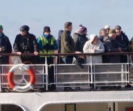 SLPS members on the ferry - taken by Pak Hung Chan