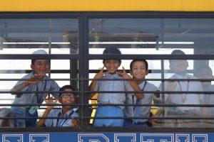School trip by Paul Hamilton